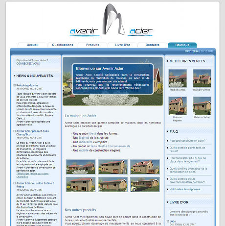 Screenshot of Avenir Acier presentation website