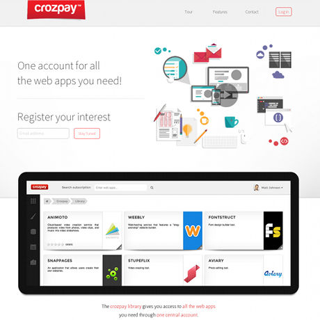 Screenshot of Crozpay's launch page